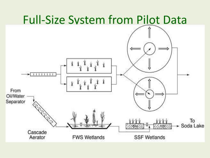 Full-Size System from Pilot Data