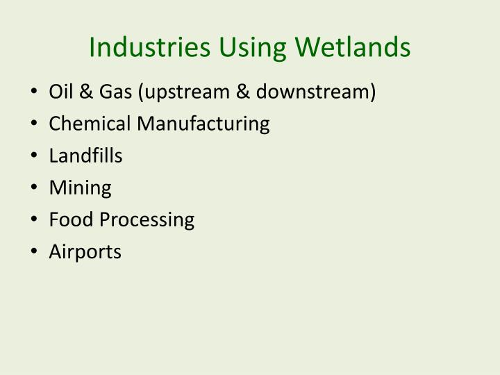 Industries Using Wetlands