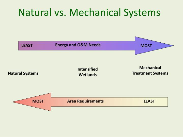Natural vs. Mechanical Systems