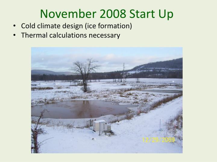 November 2008 Start Up
