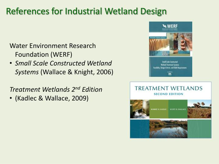 References for industrial wetland design