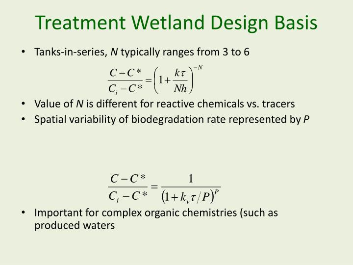 Treatment Wetland Design Basis