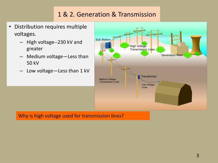 1 & 2. Generation & Transmission