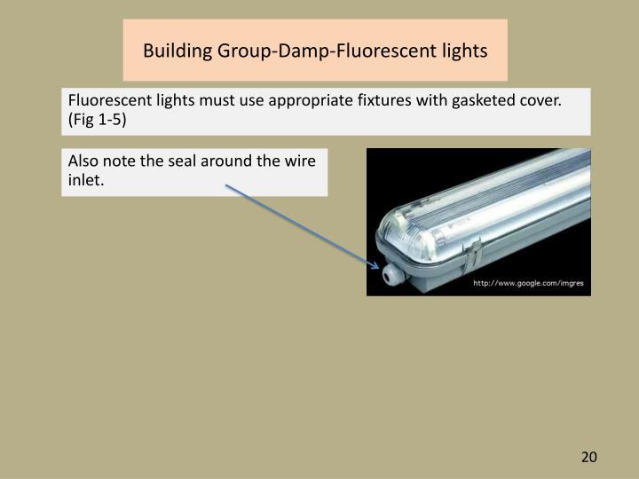 Building Group-Damp-Fluorescent lights