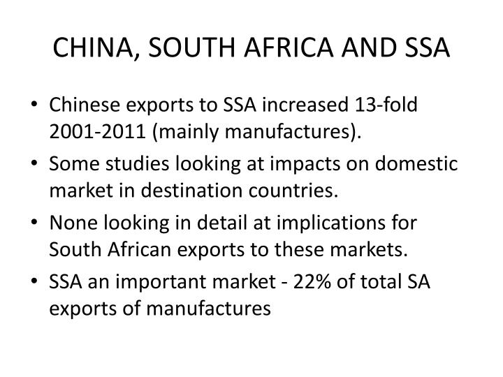 China south africa and ssa