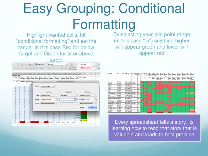 Easy Grouping: Conditional Formatting