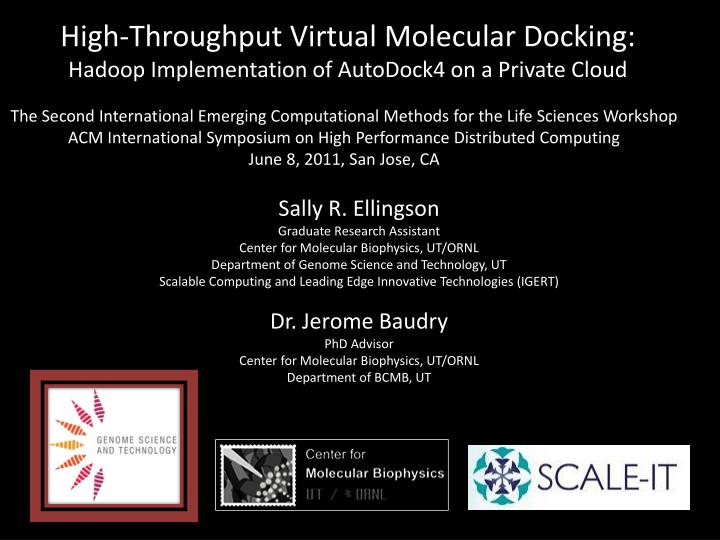 High throughput virtual molecular docking hadoop implementation of autodock4 on a private cloud