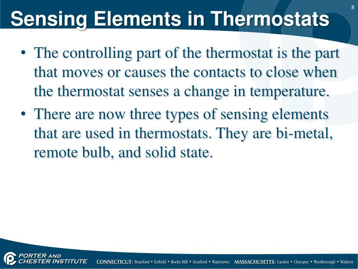 Sensing Elements in Thermostats