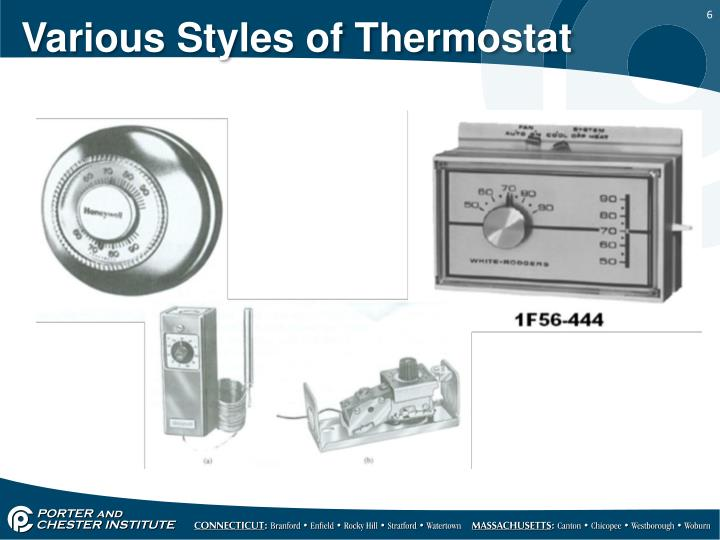 Various Styles of Thermostat
