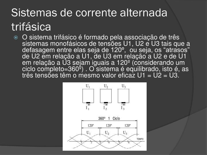 Sistemas de corrente alternada trifásica