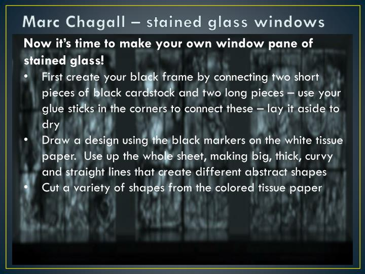 Marc Chagall – stained glass windows