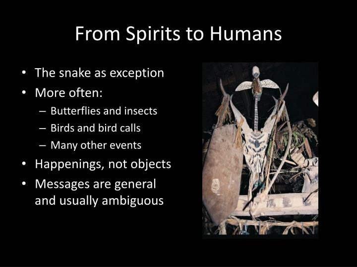 From Spirits to Humans