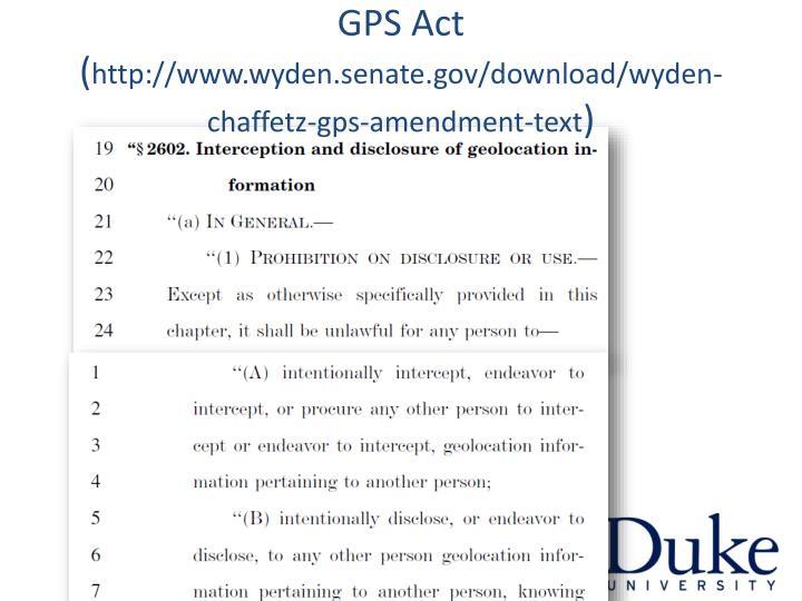 GPS Act (