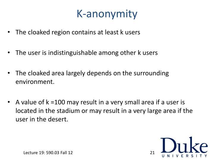 K-anonymity