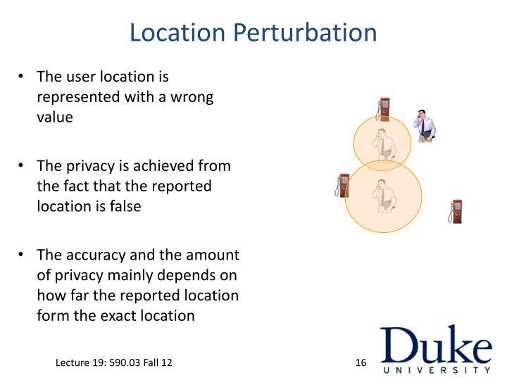 Location Perturbation