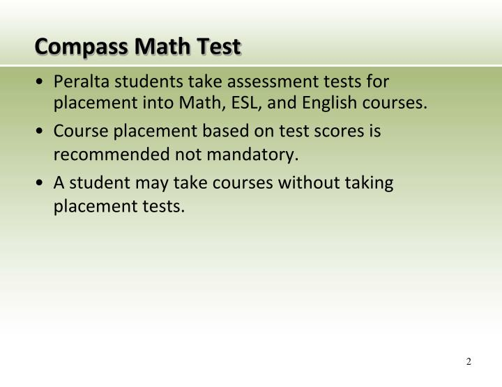 Compass math test