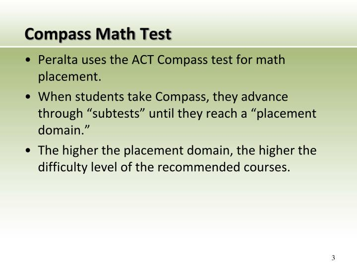 Compass math test1