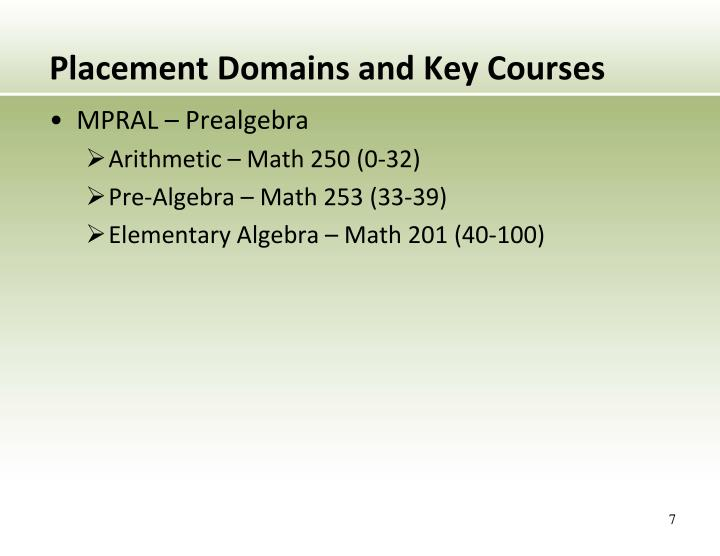 Placement Domains