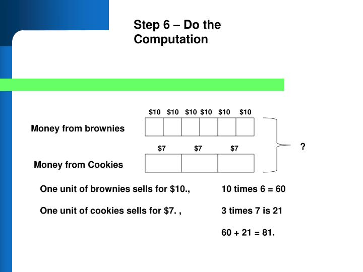 Step 6 – Do the Computation