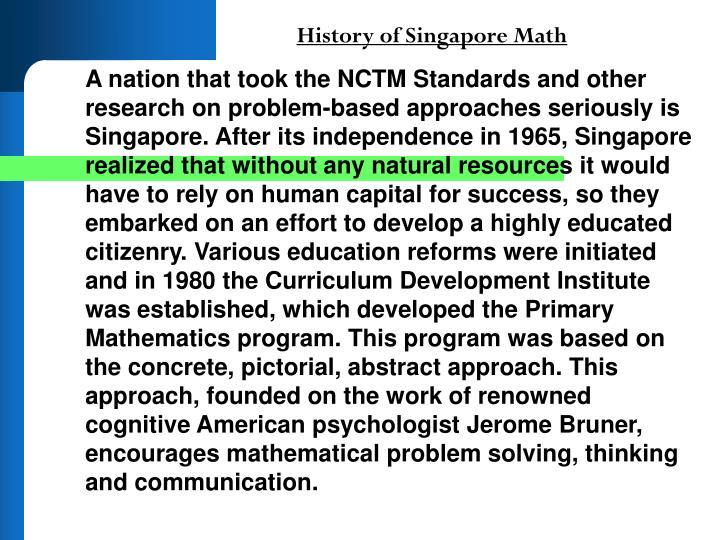 History of Singapore Math