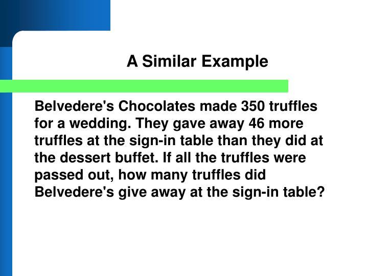 A Similar Example