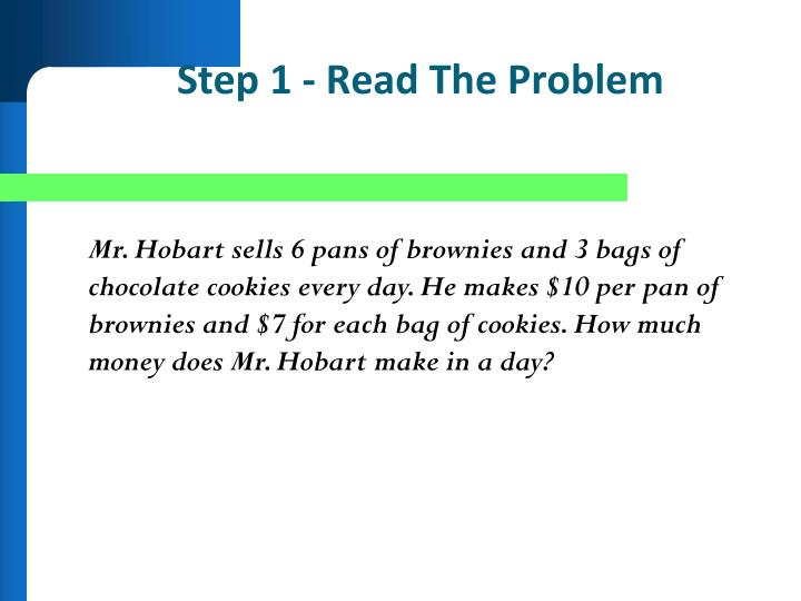 Step 1 - Read The Problem