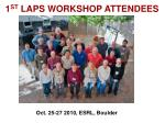 1 st laps workshop attendees