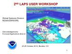 2 nd laps user workshop