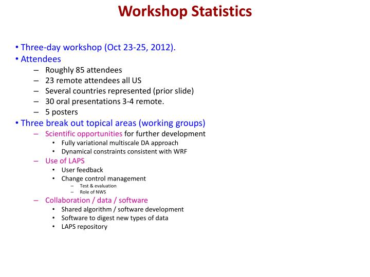 Workshop Statistics