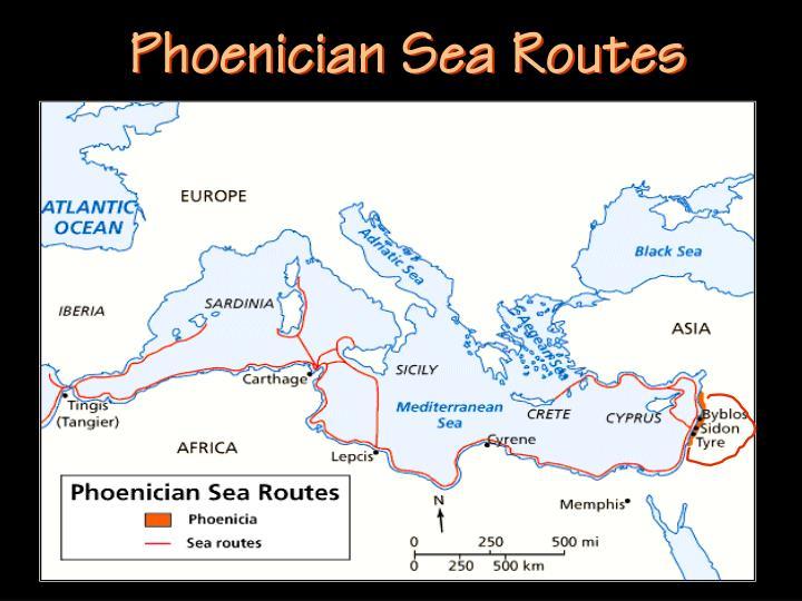 Phoenician Sea Routes