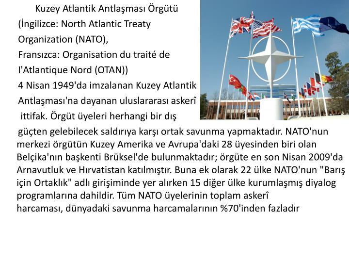 Kuzey Atlantik Antlaşması Örgütü