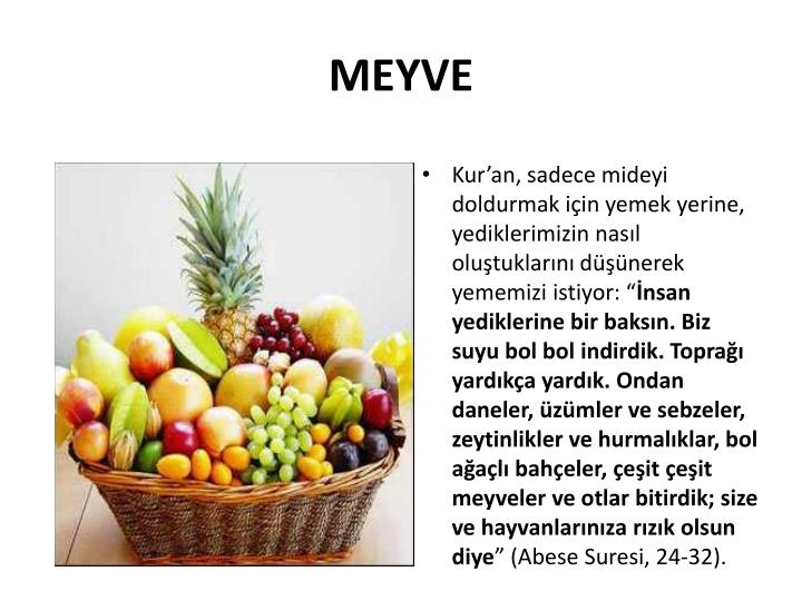 MEYVE