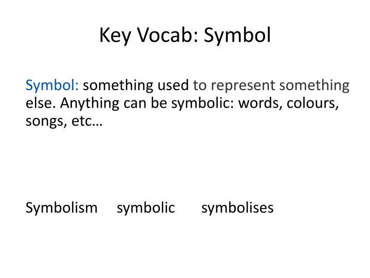Key Vocab: Symbol