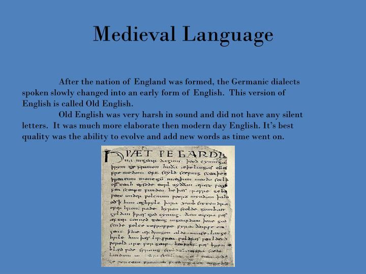 Medieval Language