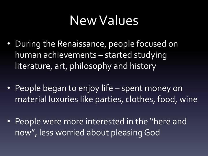 New Values