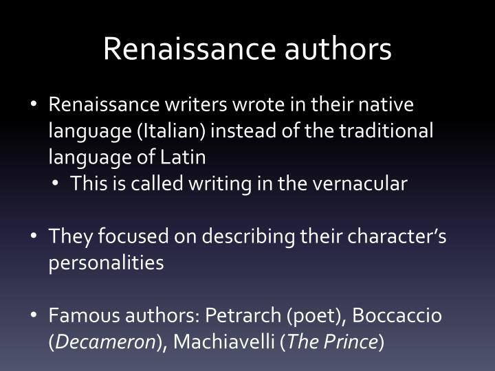 Renaissance authors