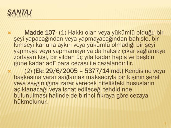 Madde 107-