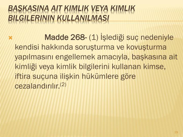 Madde 268-