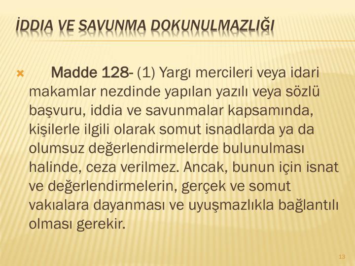 Madde 128-