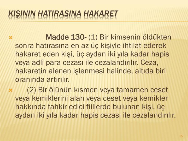 Madde 130-