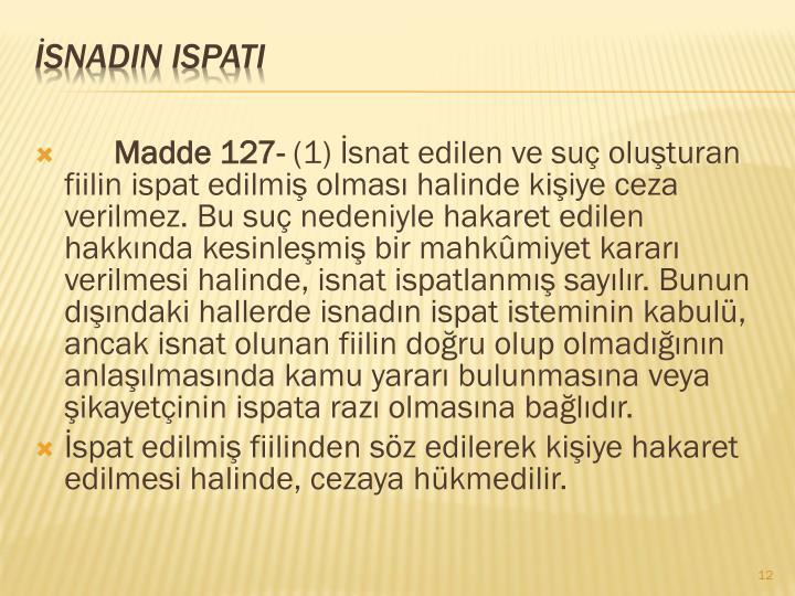 Madde 127-