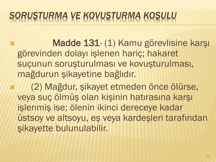 Madde 131
