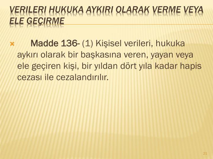Madde 136-