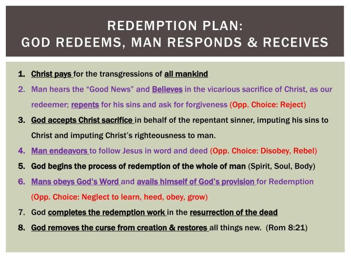 redemption plan: