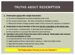 truths about redemption