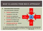 what is lacking from man s approach1