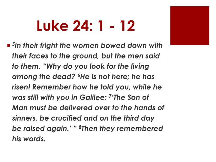 Luke 24: 1 - 12