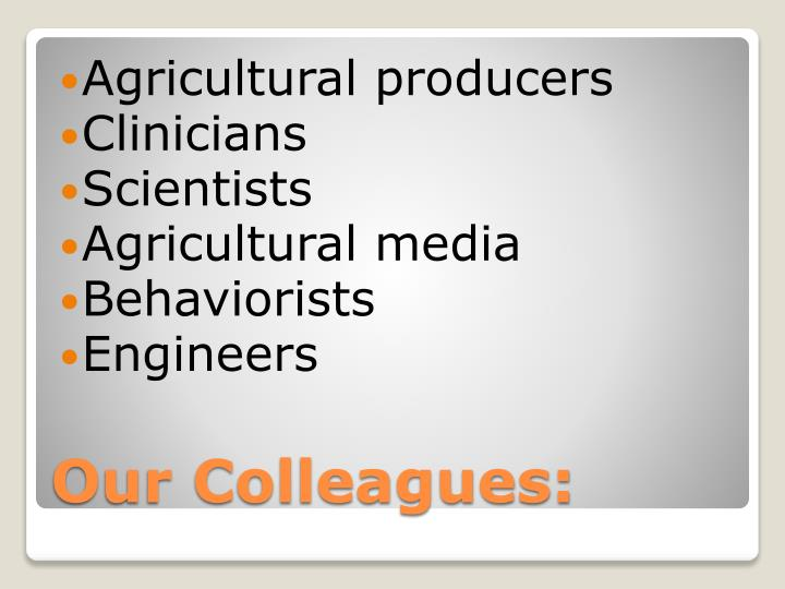 Agricultural producers