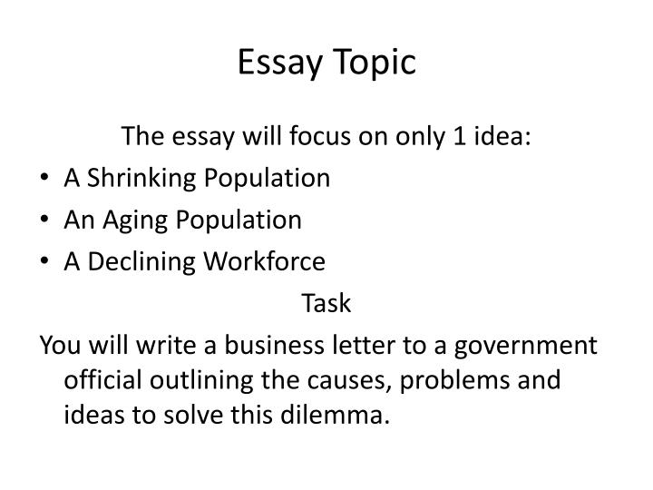 Essay Topic