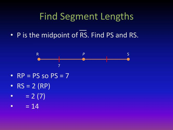 Find Segment Lengths